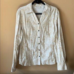Coldwater Creek lightweight corduroy shirt
